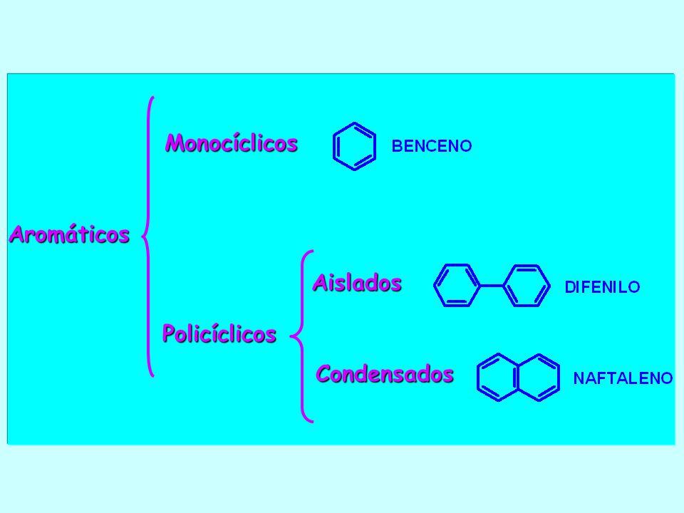 Aromáticos Policíclicos Monocíclicos Aislados Condensados