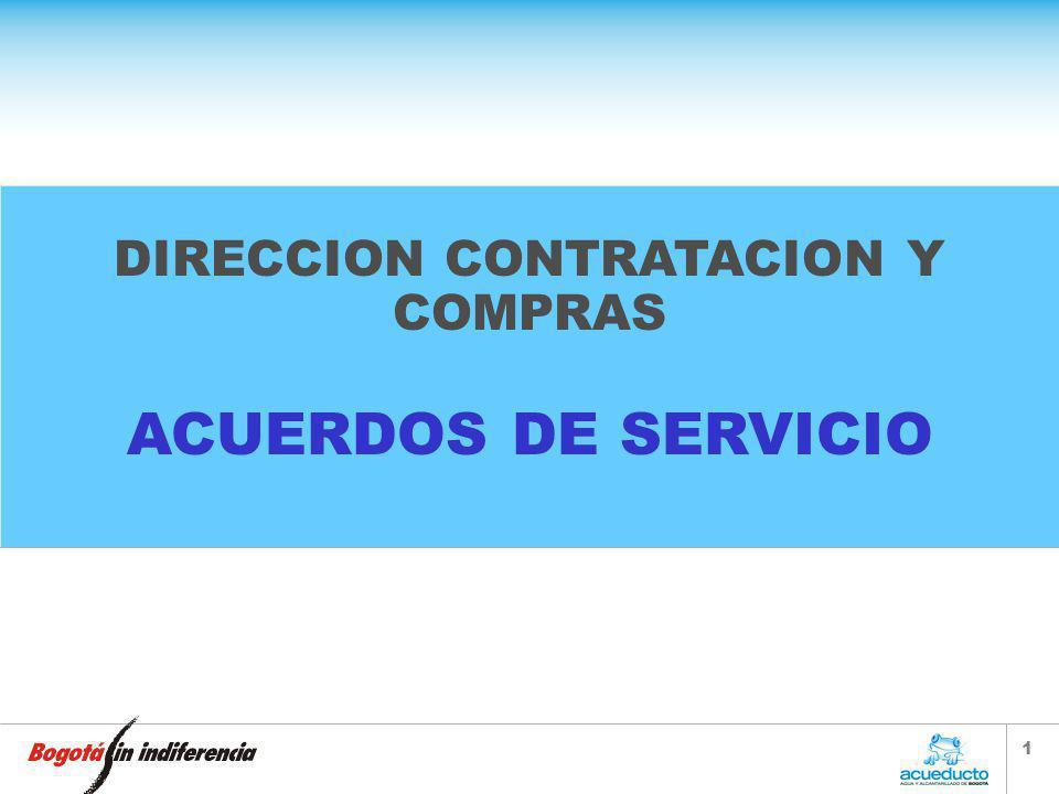1 DIRECCION CONTRATACION Y COMPRAS ACUERDOS DE SERVICIO