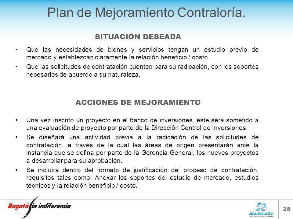 27 Plan de Mejoramiento Contraloría. Ejercer un control permanente sobre el envío oportuno de los documentos básicos que deben reposar en el expedient