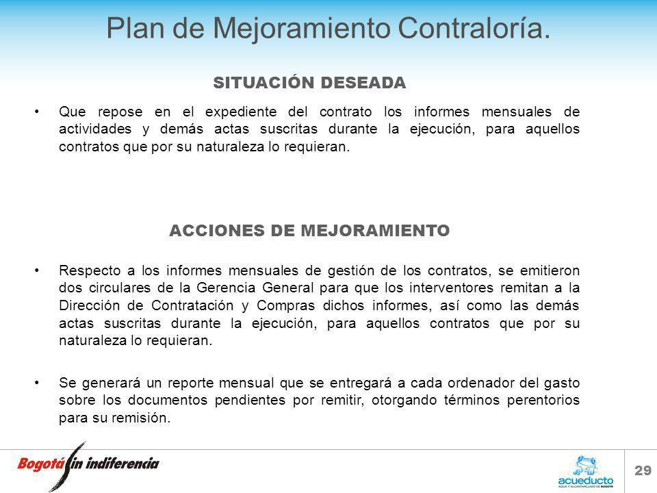 28 Plan de Mejoramiento Contraloría.