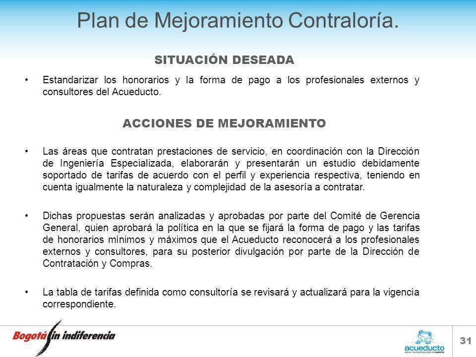 30 Plan de Mejoramiento Contraloría.