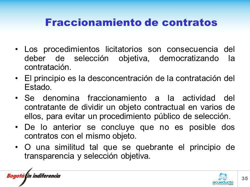 34 Fraccionamiento de contratos Artículo 209. La función administrativa está al servicio de los intereses generales y se desarrolla con fundamento en