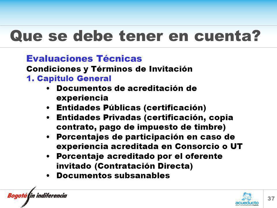 36 CONDICIONES DE EVALUACIÓN TECNICA Y ECONOMICA Septiembre de 2005