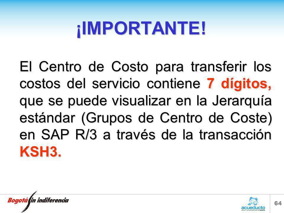 63 ASIGNACIÓN DE CENTRO DE COSTO EN SOLICITUD DE CONTRATACIÓN