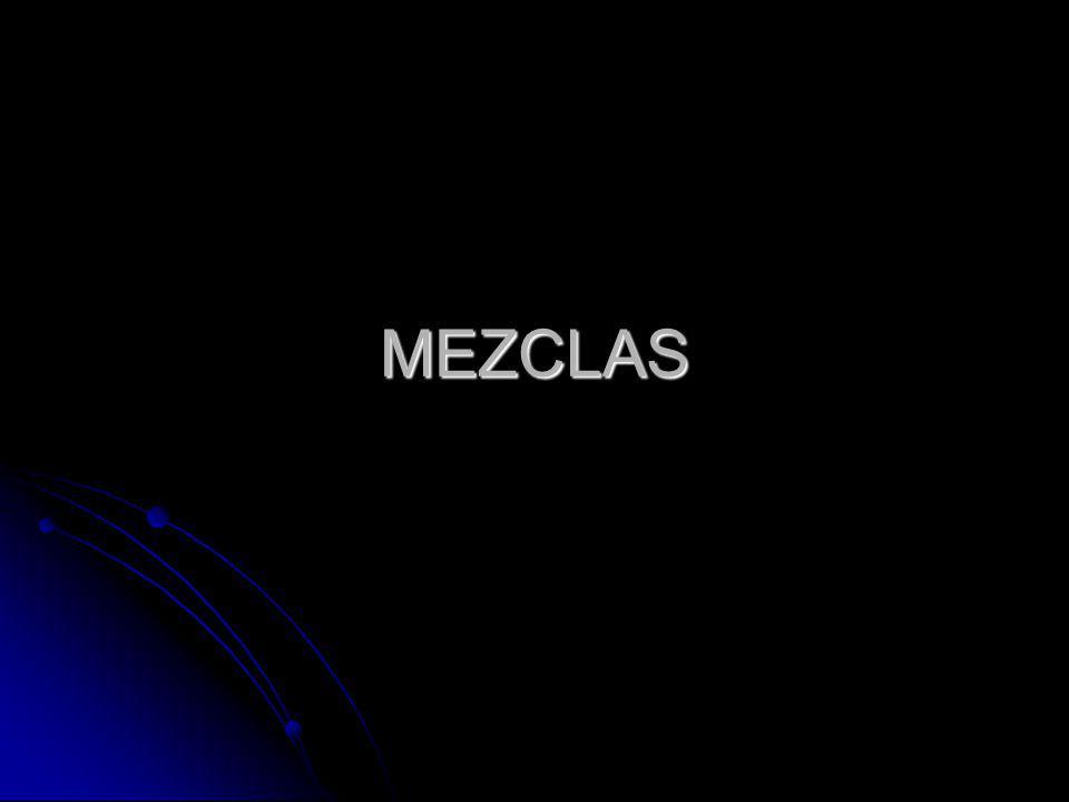 Mezclas Heterogéneas: Mezclas Heterogéneas: son aquellas que no son uniformes en todos sus puntos.