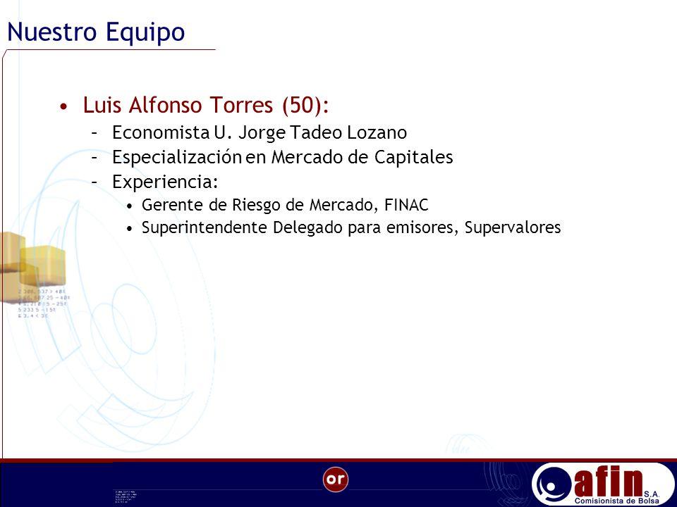 Nuestro Equipo Luis Alfonso Torres (50): –Economista U.