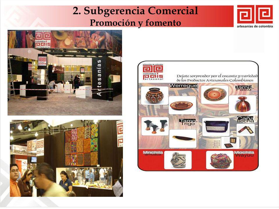 2. Subgerencia Comercial Promoción y fomento