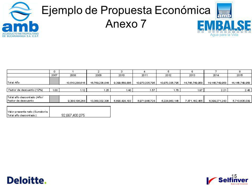15 Ejemplo de Propuesta Económica Anexo 7
