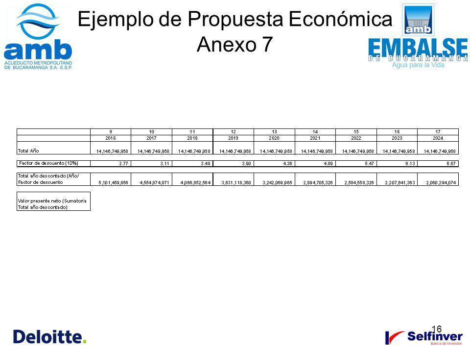16 Ejemplo de Propuesta Económica Anexo 7