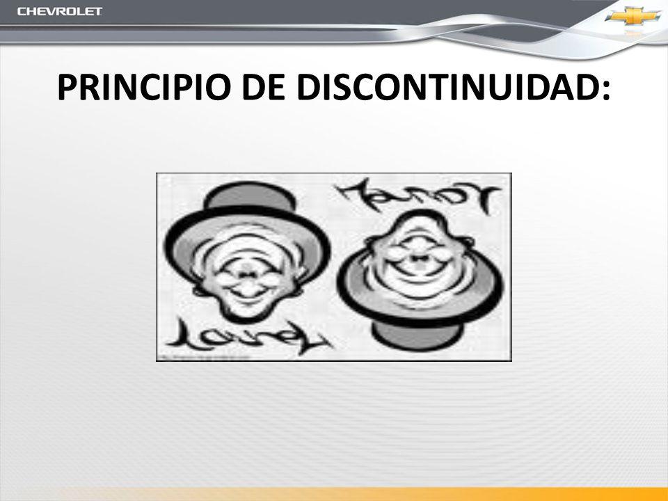 PRINCIPIO DE DISCONTINUIDAD: