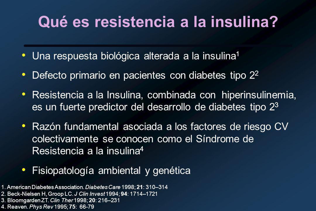 Qué es resistencia a la insulina.