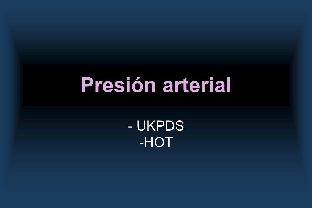 Presión arterial - UKPDS -HOT