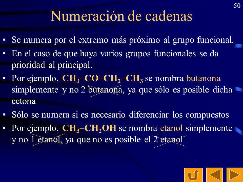 49 Ejercicio: Formula y nombra todos los isómeros posibles (estructurales y geométricos) del 2-butanol indicando el tipo de isomería en cada caso. 2-b