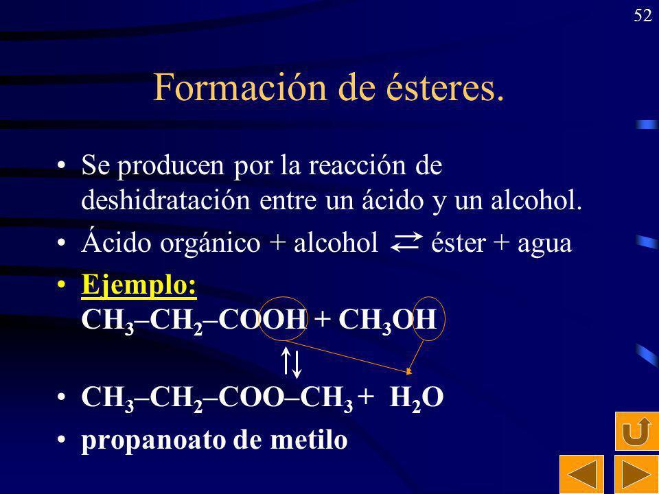 51 Numeración de cadenas hidrocarbonadas Se numera por el extremo más próximo al grupo funcional (doble o triple enlace). En el caso de que haya un do