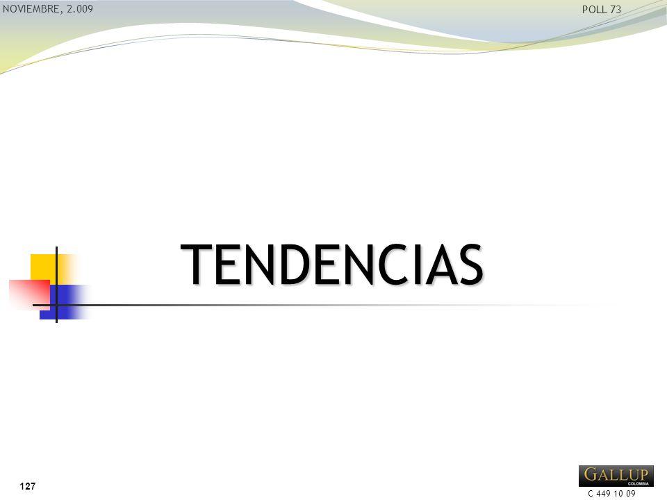 C 449 10 09 NOVIEMBRE, 2.009 POLL 73 TENDENCIAS 127