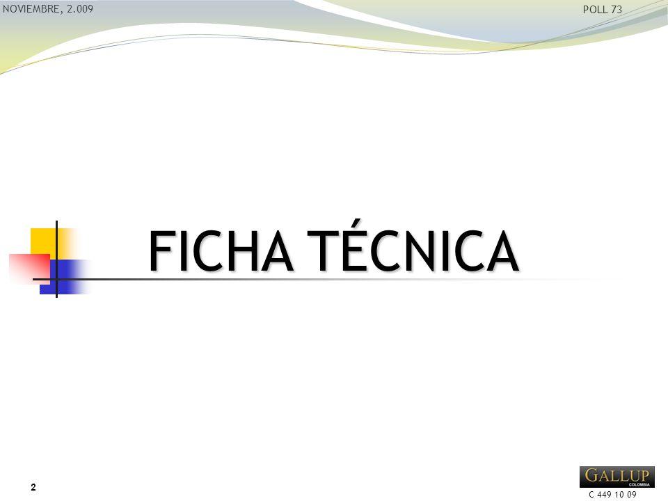 C 449 10 09 NOVIEMBRE, 2.009 POLL 73 FICHA TÉCNICA 2