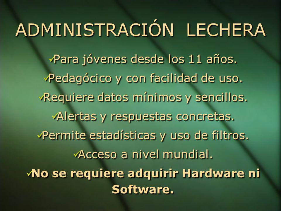 ADMINISTRACIÓN LECHERA ADMINISTRACIÓN LECHERA Para jóvenes desde los 11 años.