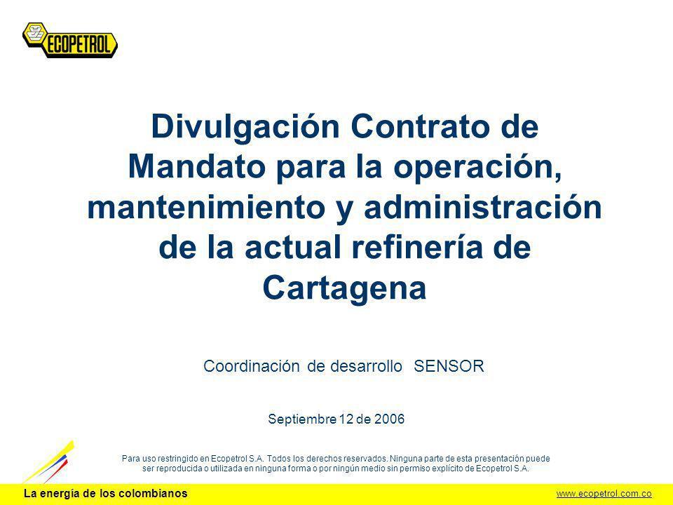 La energía de los colombianos DCI - UDS.2 CONTRATO DE MANDATO – REF.