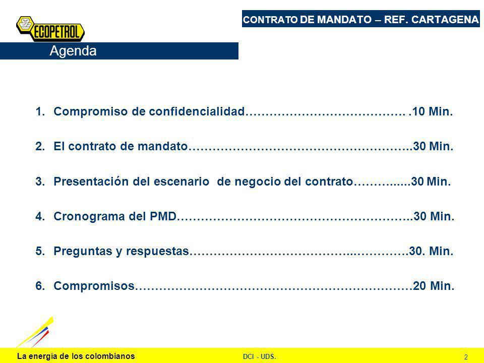 La energía de los colombianos DCI - UDS. 2 CONTRATO DE MANDATO – REF.