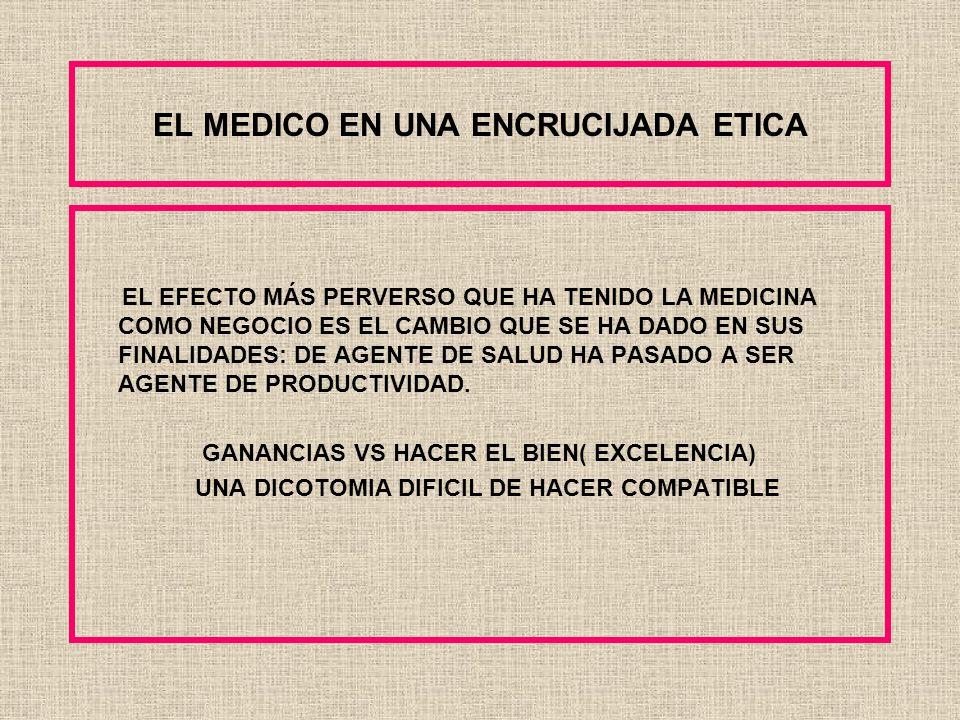 EL MEDICO EN UNA ENCRUCIJADA ETICA LA ETICA ES AQUELLA DISCIPLINA QUE SE OCUPA DEL DEBER-SER EN CUANTO OFRECE PAUTAS NORMATIVAS PARA LA ACCIÓN.