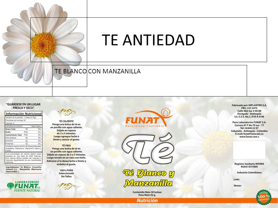 Haga clic para modificar el estilo de subtítulo del patrón 16/02/11 TE ANTIEDAD TE BLANCO CON MANZANILLA