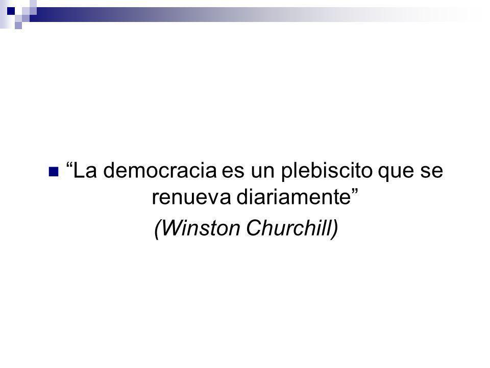 La democracia es un plebiscito que se renueva diariamente (Winston Churchill)