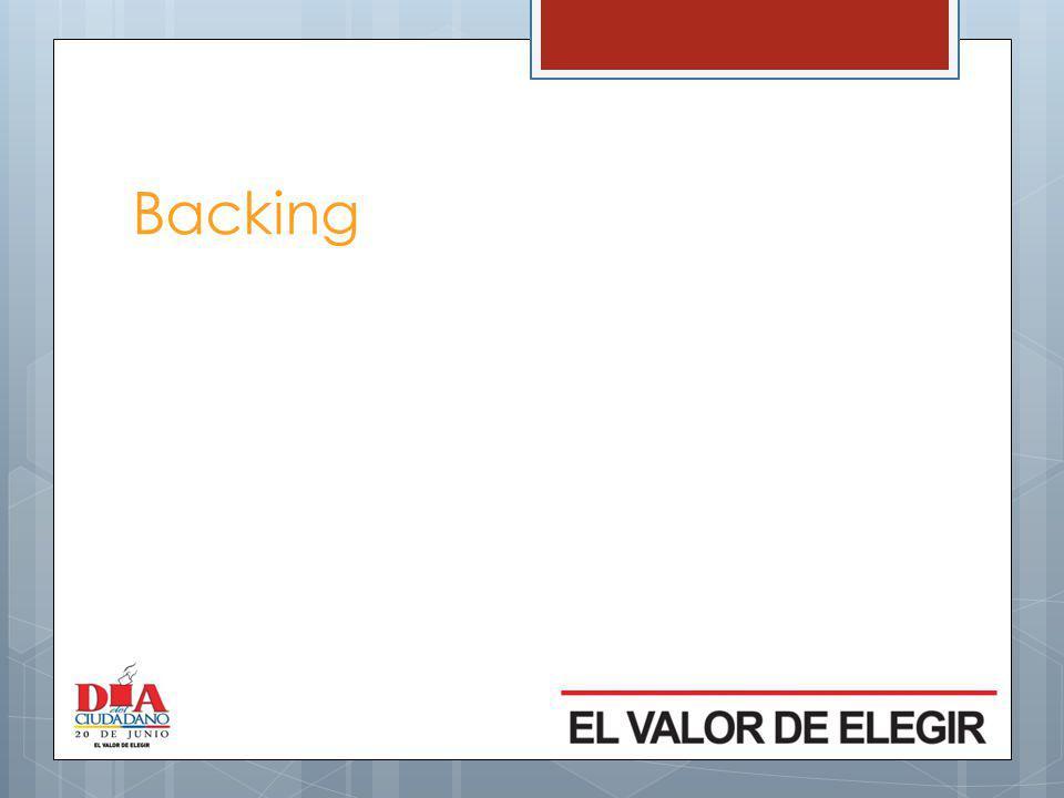 Backing