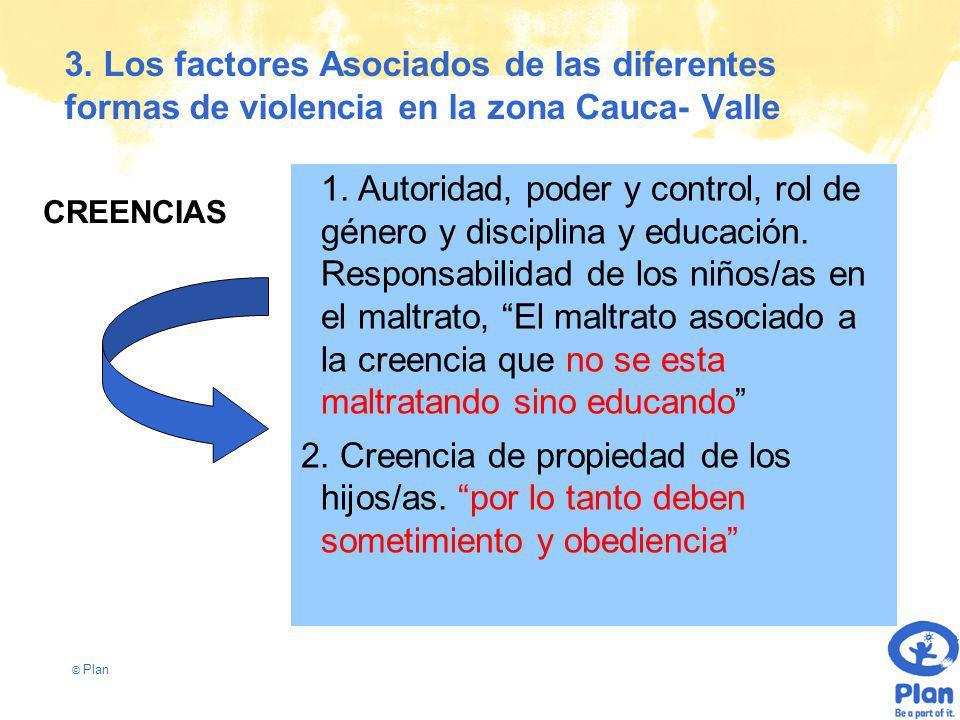 © Plan 3. Los factores Asociados de las diferentes formas de violencia en la zona Cauca- Valle 1.