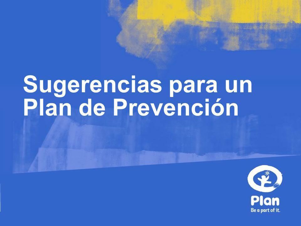 Sugerencias para un Plan de Prevención