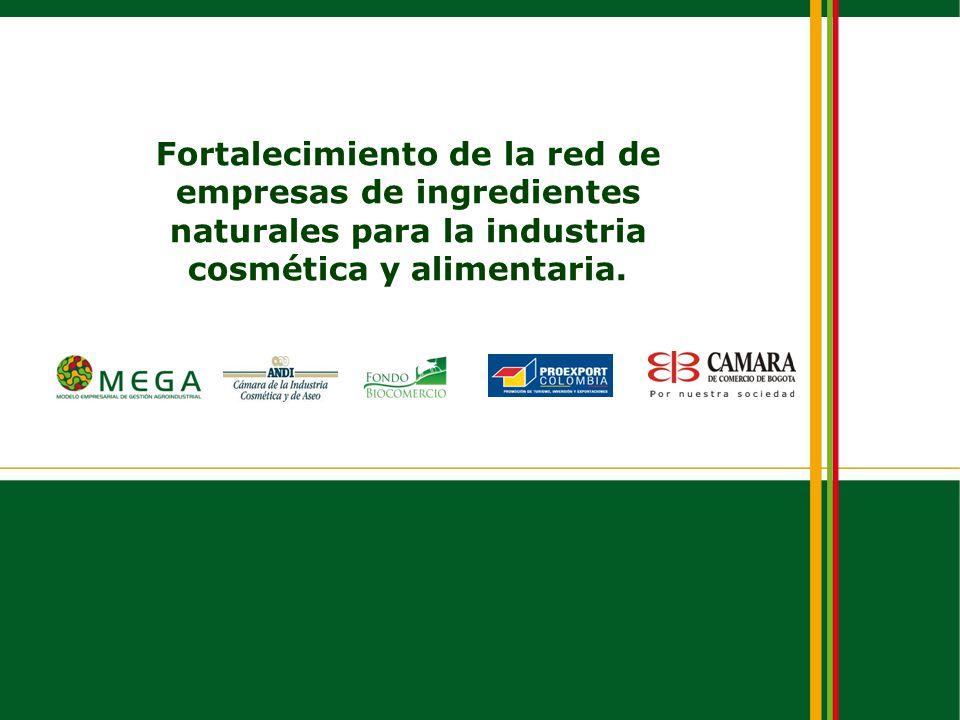 Fortalecimiento de la red de empresas de ingredientes naturales para la industria cosmética y alimentaria.