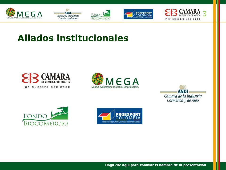 4 Objetivo general Haga clic aquí para cambiar el nombre de la presentación Promover el fortalecimiento de la red de empresas de ingredientes naturales de Bogotá y Cundinamarca para la industria cosmética y alimentaria