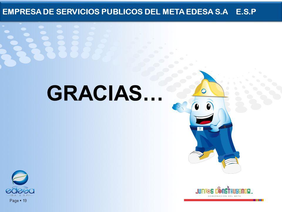 Page 19 EMPRESA DE SERVICIOS PUBLICOS DEL META EDESA S.A E.S.P GRACIAS…