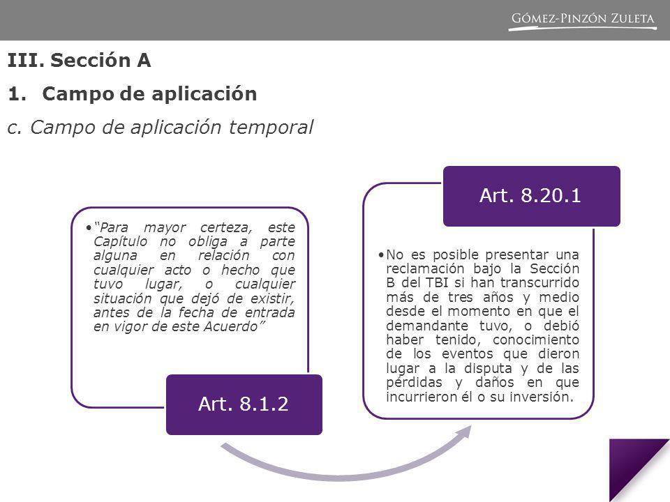 III.Sección A 1.Campo de aplicación c.