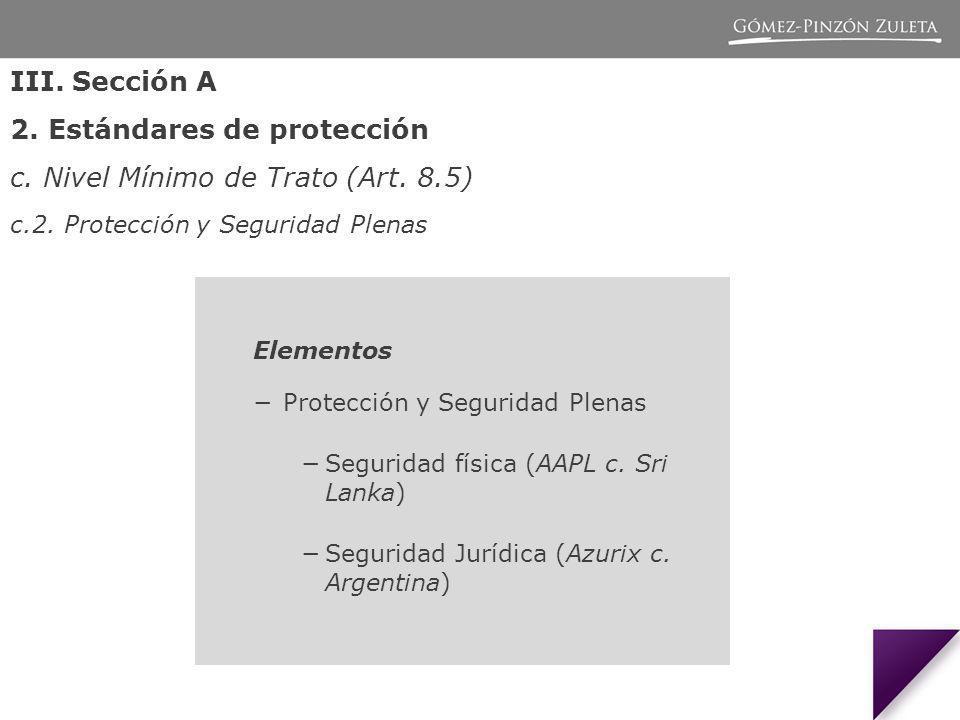 Elementos Protección y Seguridad Plenas Seguridad física (AAPL c.