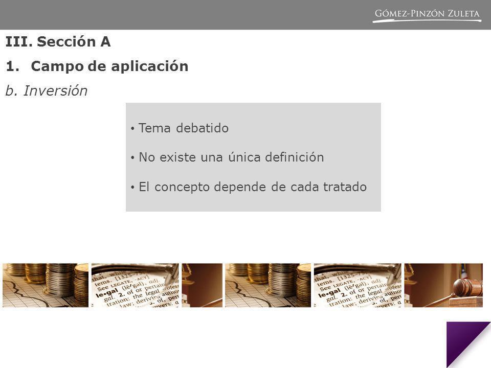 III.Sección A 1.Campo de aplicación b.