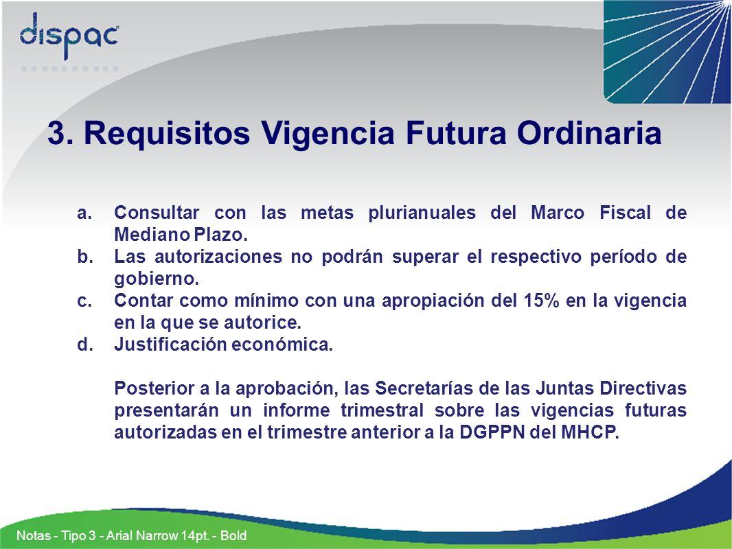 Se verificaron los requisitos para solicitar la vigencia futura a través de la Junta Directiva: CONCEPTO VALOR Apropiación Gastos de Operación Comercial 77.739.500.000 V.