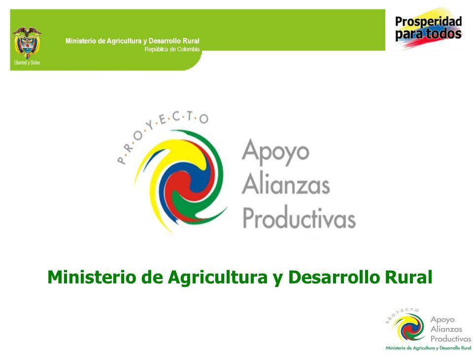 Ministerio de Agricultura y Desarrollo Rural República de Colombia Ministerio de Agricultura y Desarrollo Rural