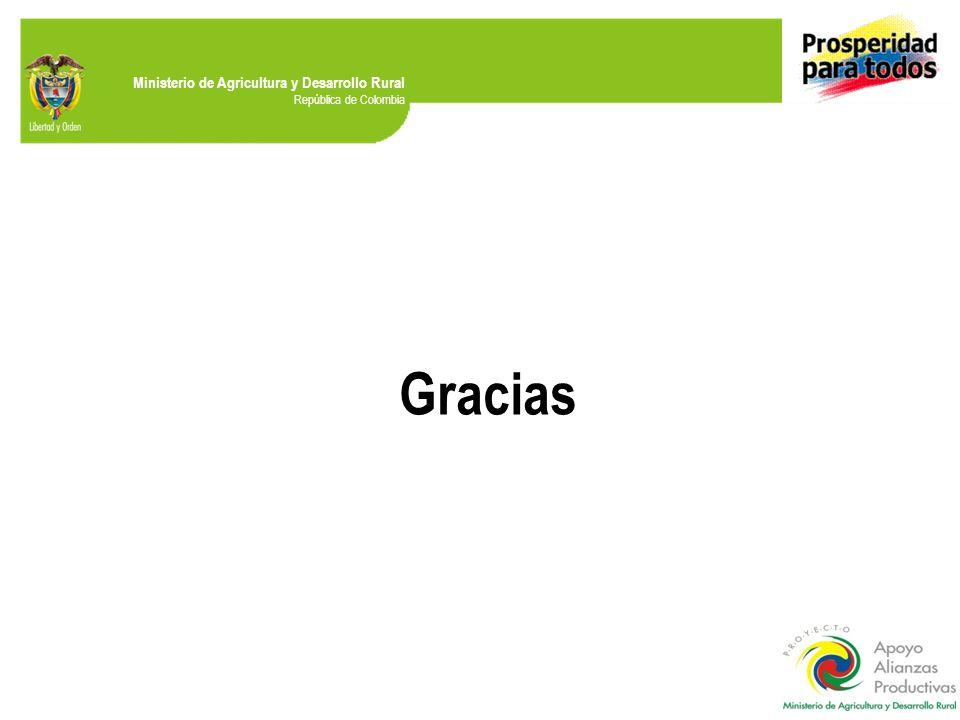 Ministerio de Agricultura y Desarrollo Rural República de Colombia Gracias
