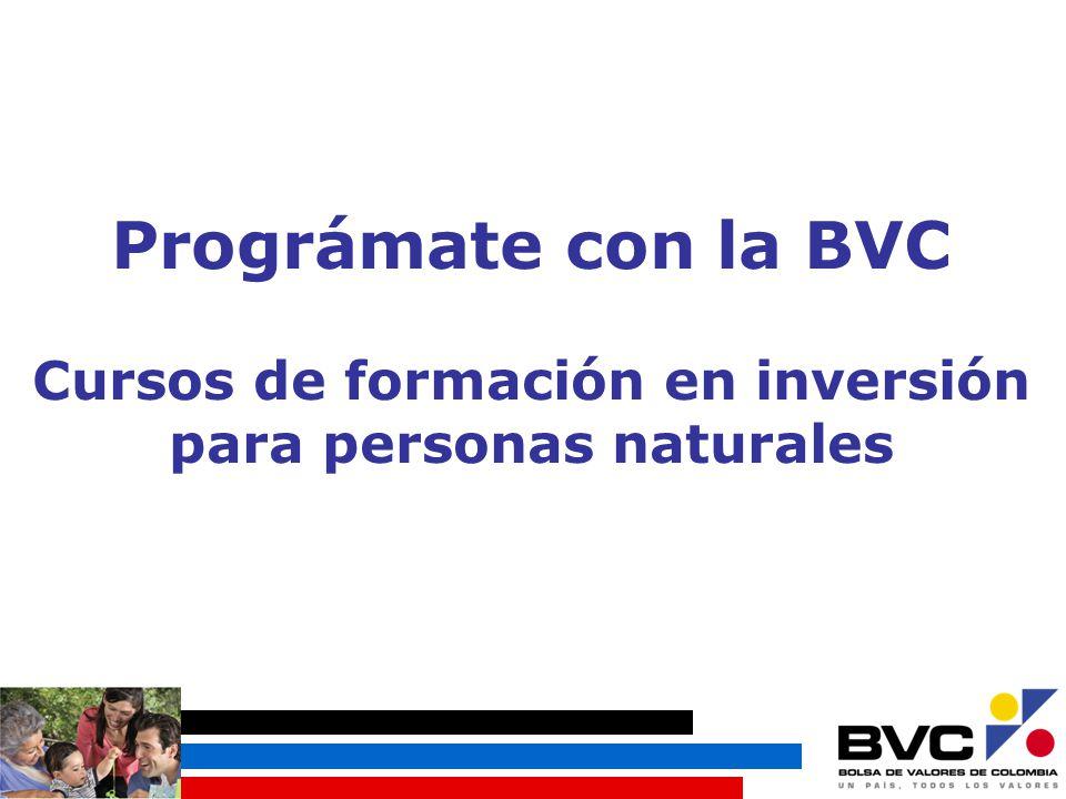 Prográmate con la BVC Cursos de formación en inversión para personas naturales