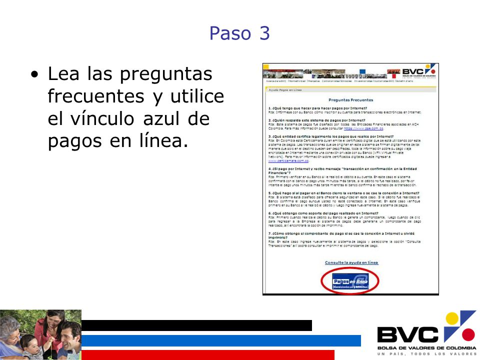Paso 3 Lea las preguntas frecuentes y utilice el vínculo azul de pagos en línea.