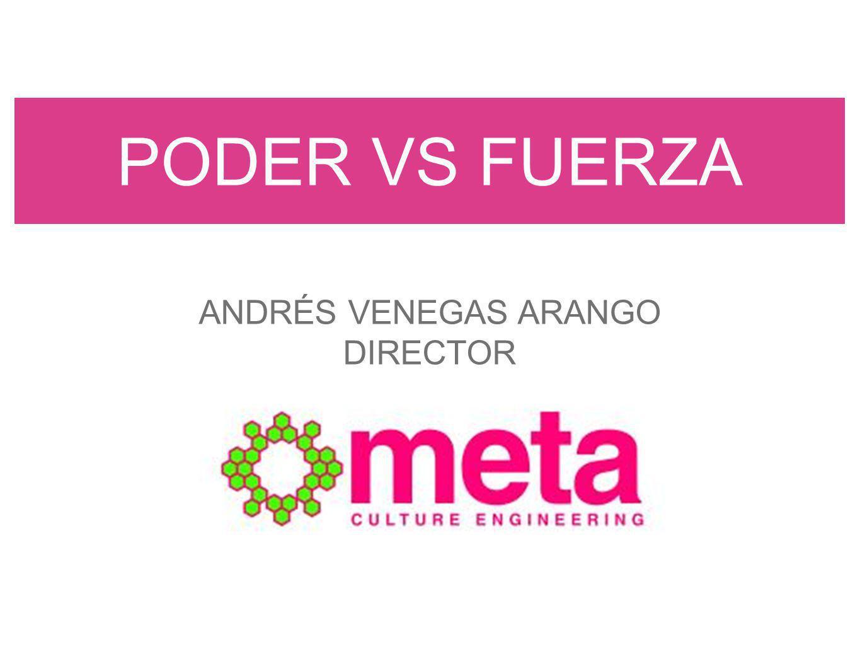 PODER VS FUERZA ANDRÉS VENEGAS ARANGO DIRECTOR
