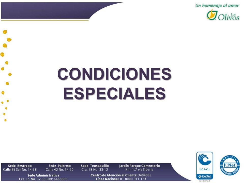 ISO 9001 CONDICIONES ESPECIALES