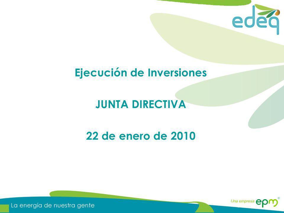 Ejecución de las metas físicas proyectadas para la vigencia 2009 en Redes