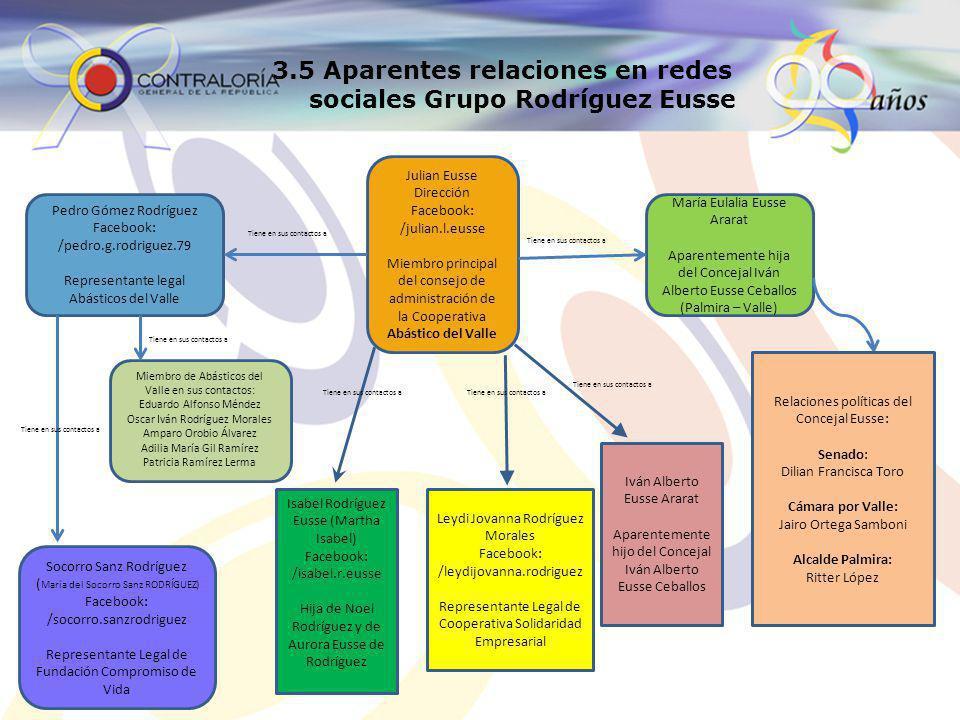 3.6 Grupo Torrado Alexander torrado Jaime EMPSENAL Cooperativa Multiactiva Surcolombiana de Inversiones Internacional de Negocios UT.
