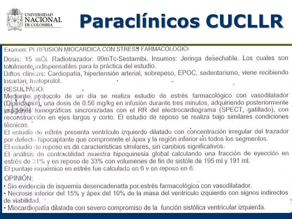 Paraclínicos CUCLLR 1-2-2011 Perfusión miocárdica