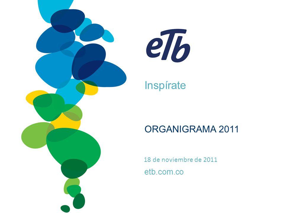 Inspírate etb.com.co ORGANIGRAMA 2011 18 de noviembre de 2011