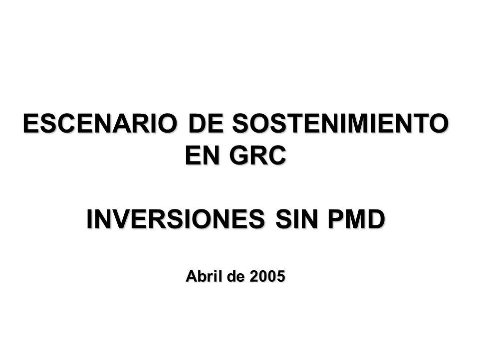 ESCENARIO DE SOSTENIMIENTO EN GRC INVERSIONES SIN PMD Abril de 2005