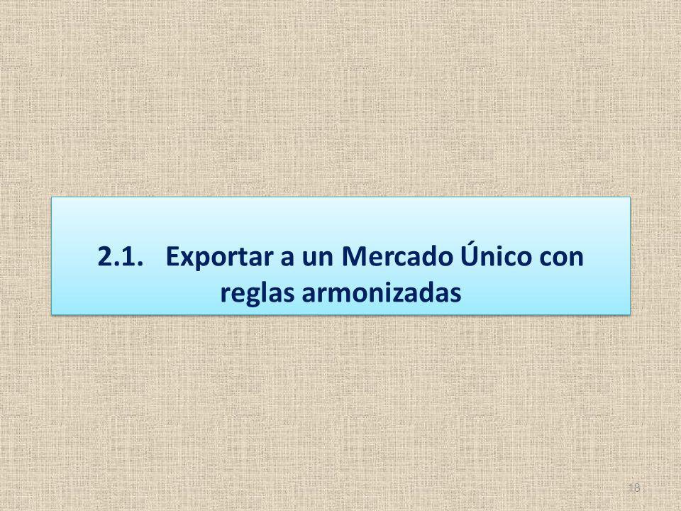 18 2.1.Exportar a un Mercado Único con reglas armonizadas