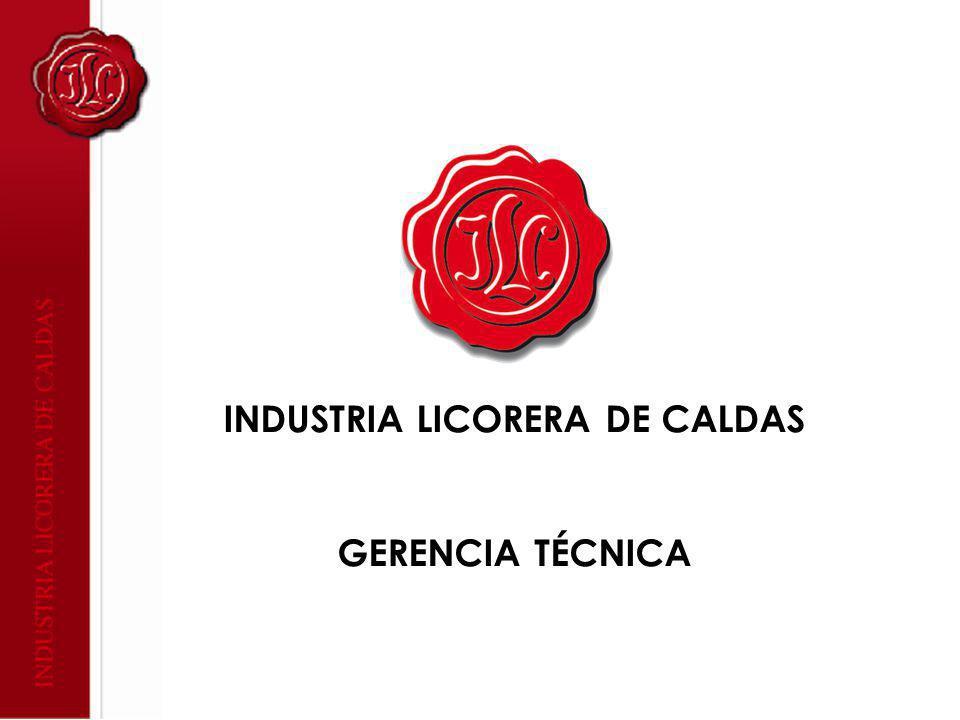 INDUSTRIA LICORERA DE CALDAS GERENCIA TÉCNICA