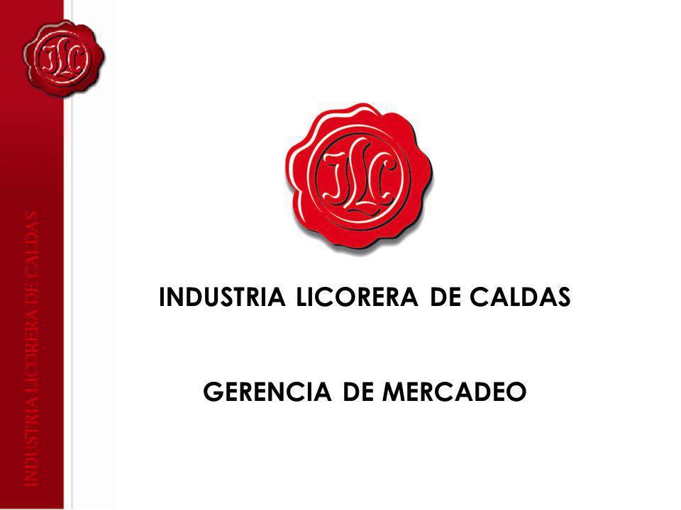 INDUSTRIA LICORERA DE CALDAS GERENCIA DE MERCADEO